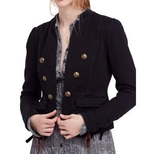 Free People Jagger Open-Front Military Jacket
